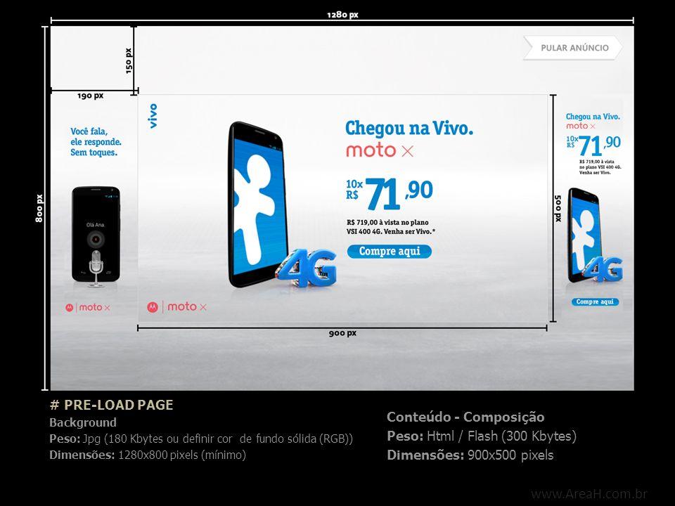 www.AreaH.com.br # PRE-LOAD PAGE Conteúdo - Composição