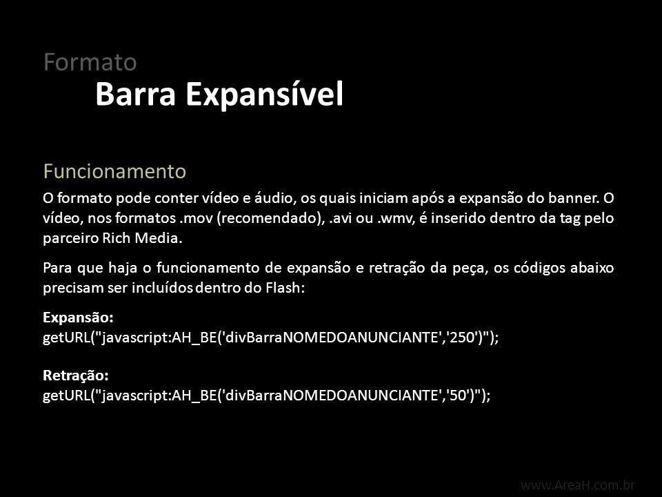 Barra Expansível Formato Funcionamento