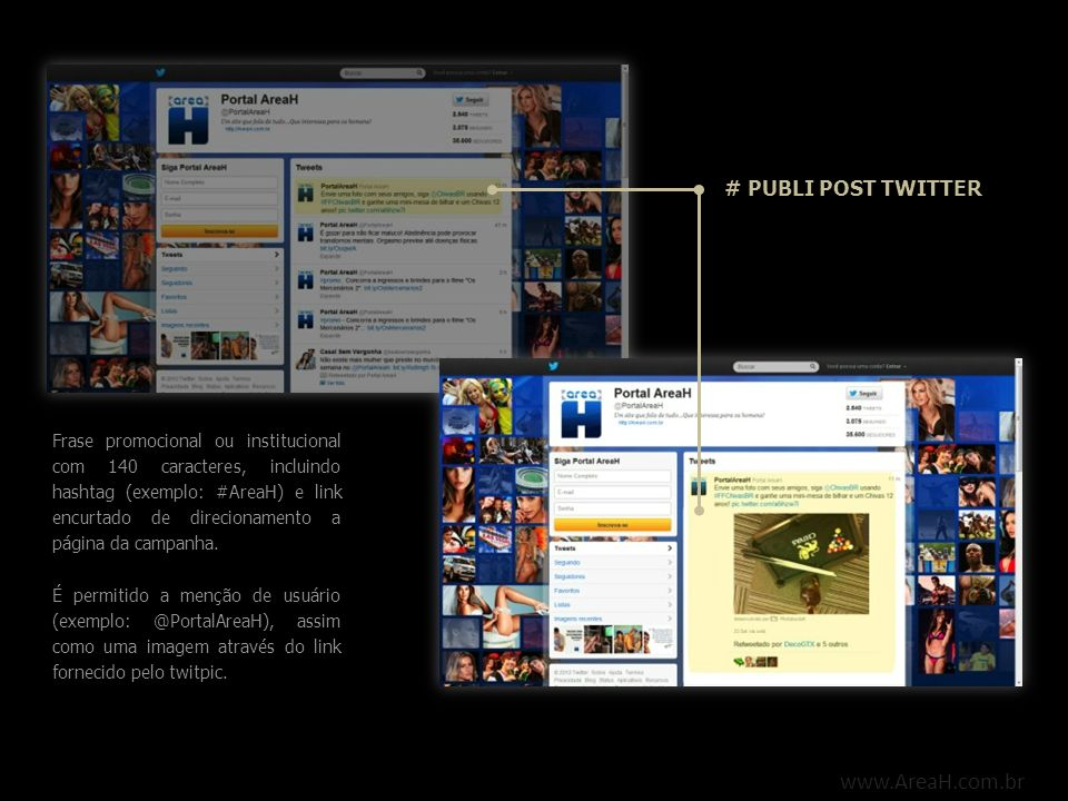 www.AreaH.com.br # PUBLI POST TWITTER