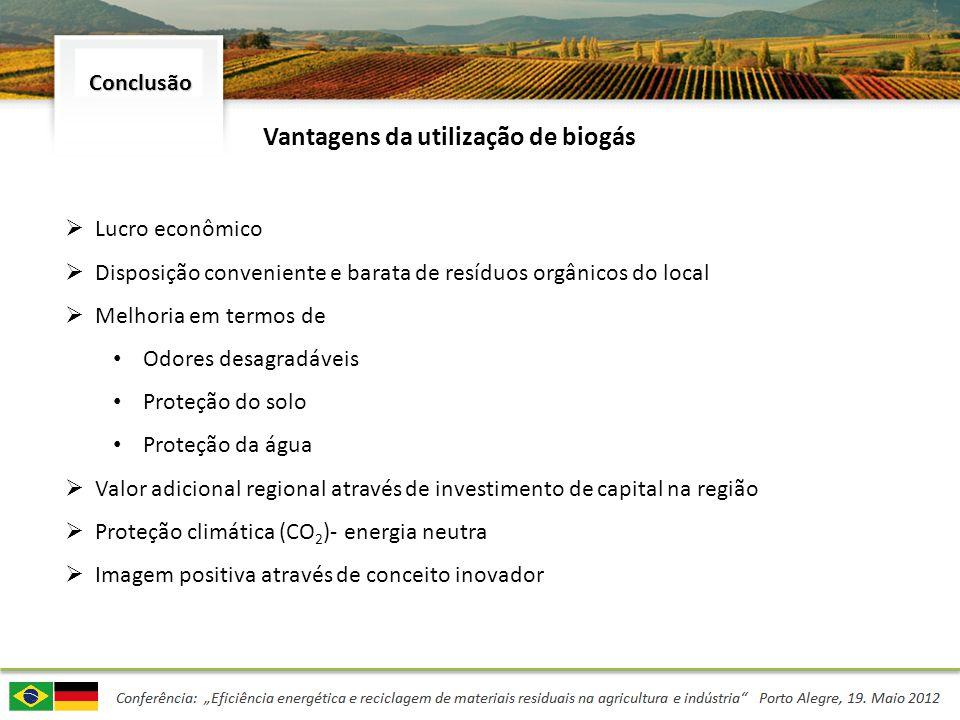 Vantagens da utilização de biogás