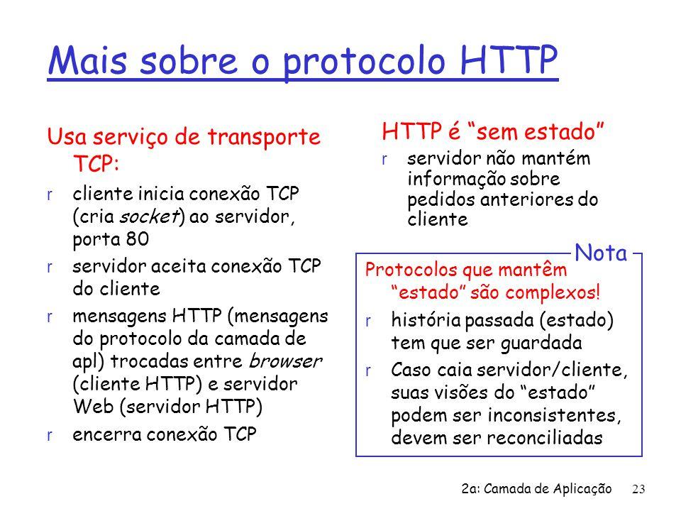 Mais sobre o protocolo HTTP