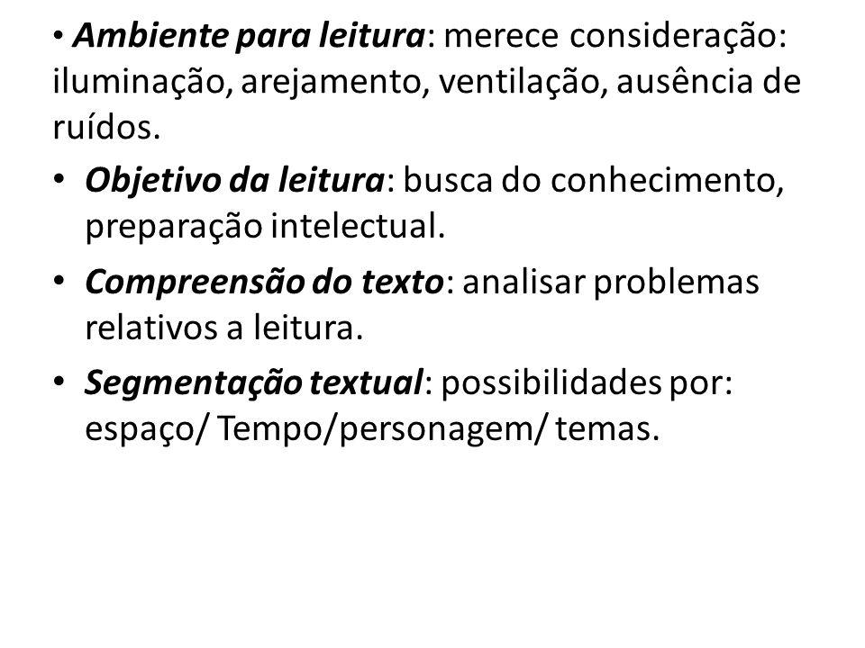 Objetivo da leitura: busca do conhecimento, preparação intelectual.