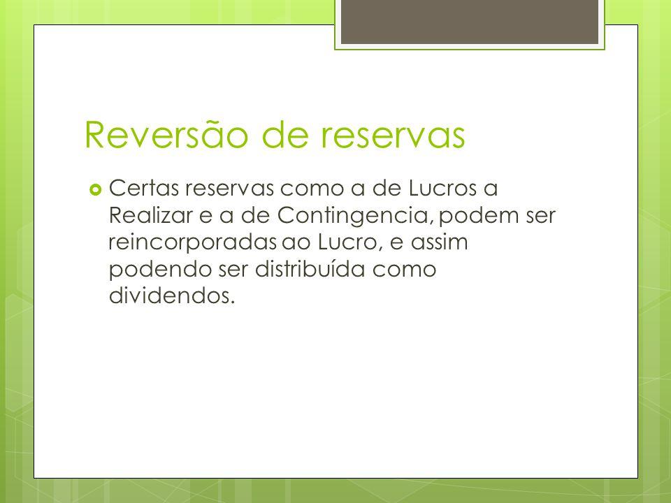 Reversão de reservas