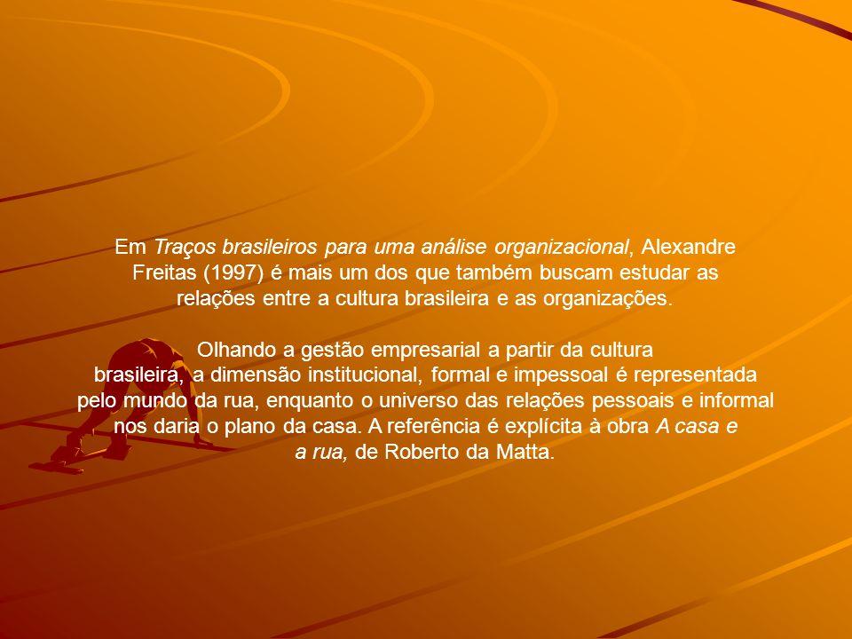 Em Traços brasileiros para uma análise organizacional, Alexandre