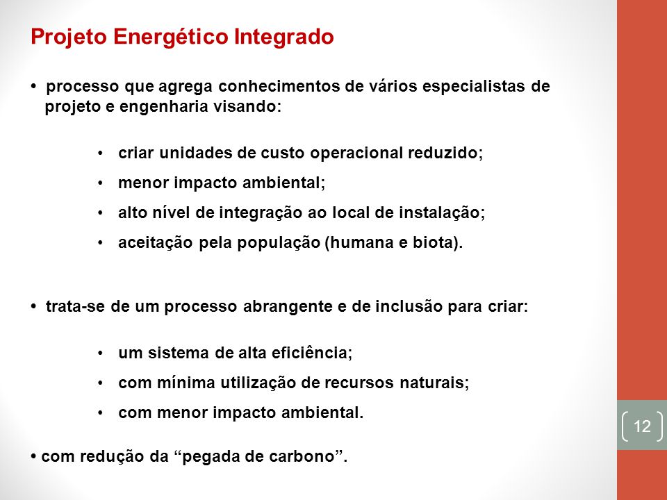 Projeto Energético Integrado