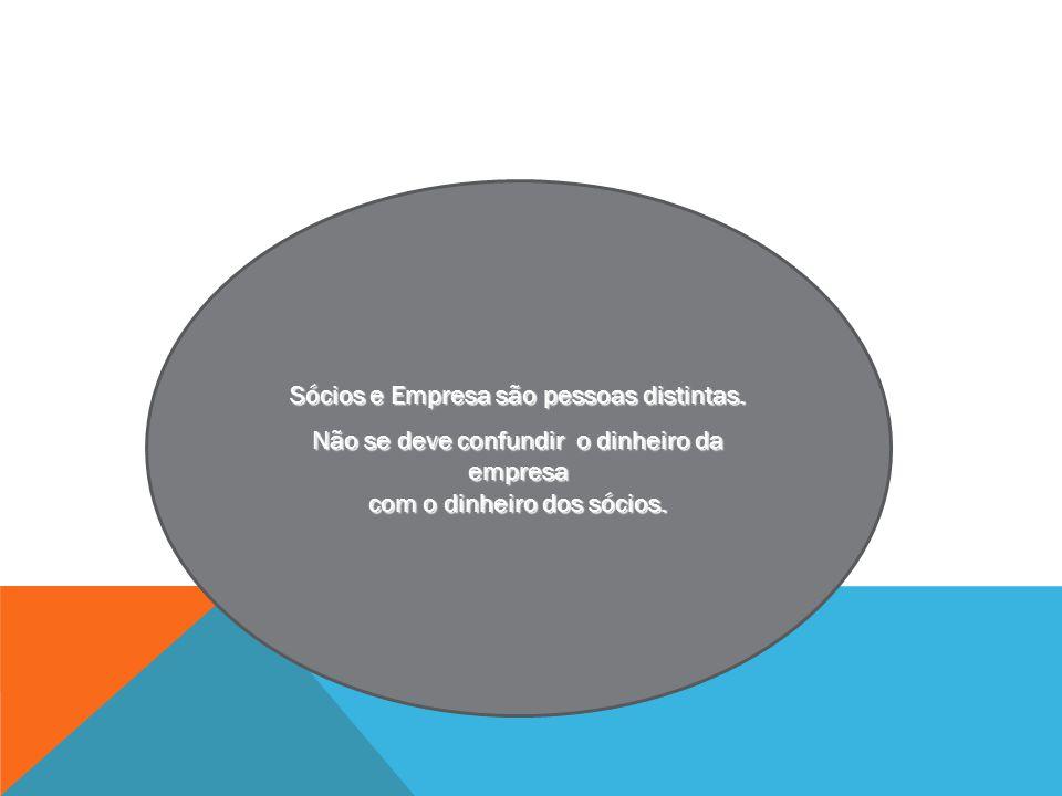 Sócios e Empresa são pessoas distintas.