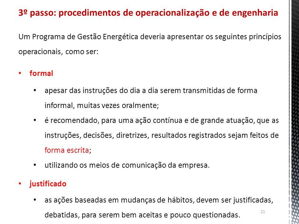 3º passo: procedimentos de operacionalização e de engenharia
