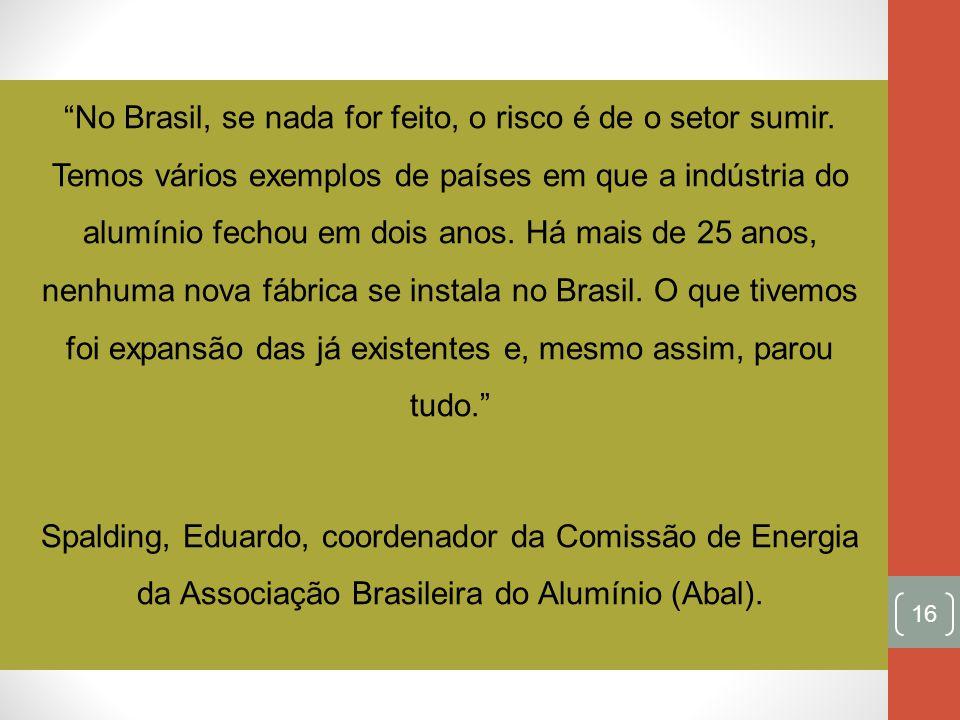 No Brasil, se nada for feito, o risco é de o setor sumir