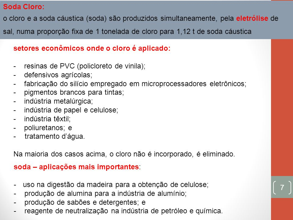 Soda Cloro: