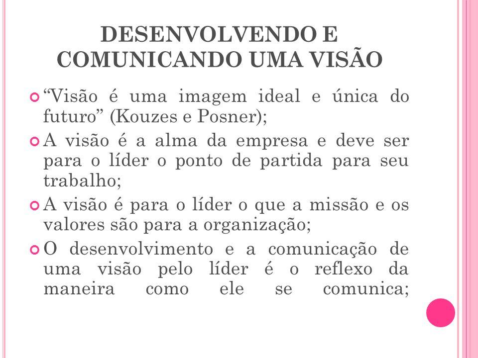 DESENVOLVENDO E COMUNICANDO UMA VISÃO