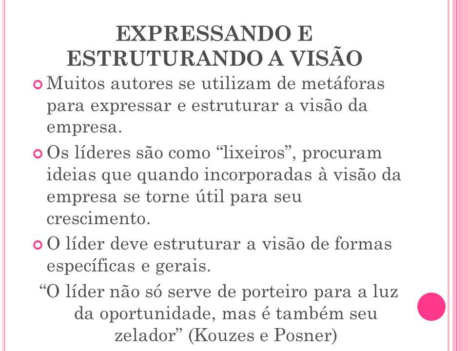 EXPRESSANDO E ESTRUTURANDO A VISÃO