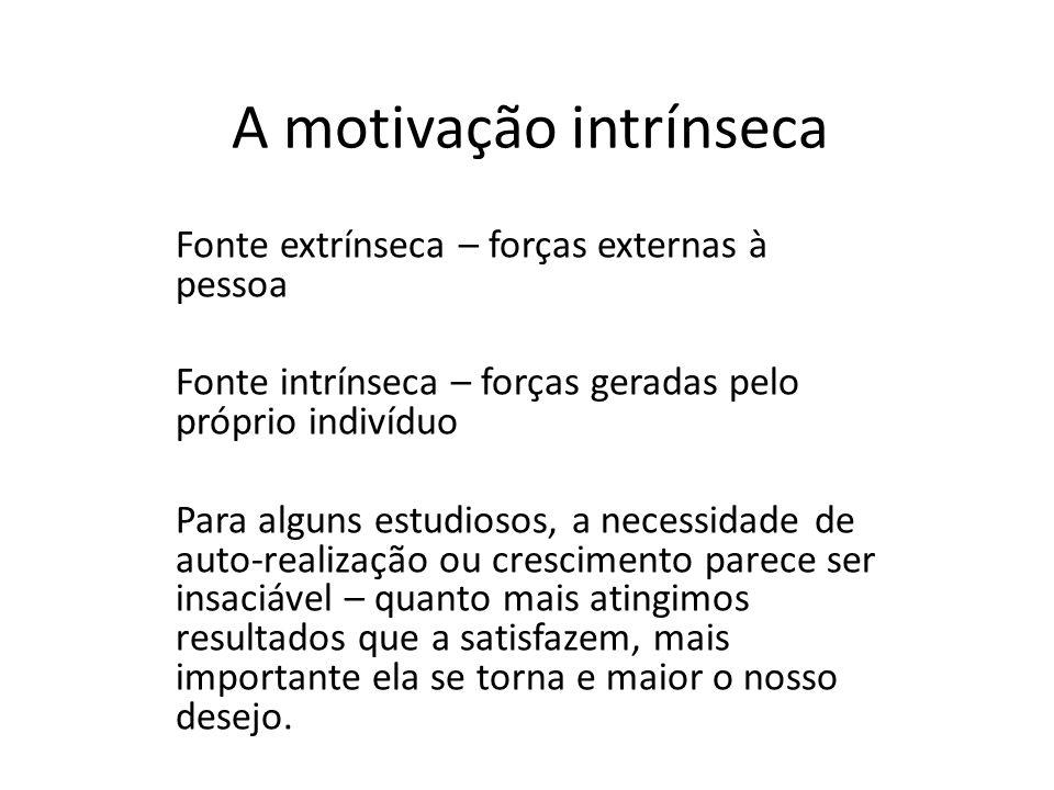 A motivação intrínseca