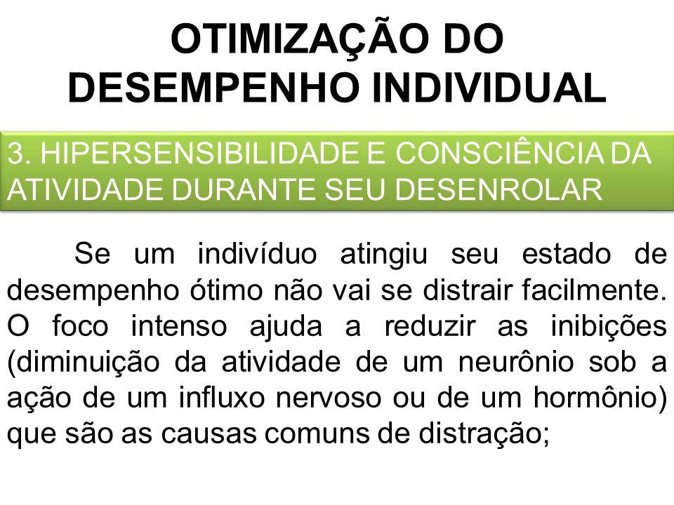 OTIMIZAÇÃO DO DESEMPENHO INDIVIDUAL