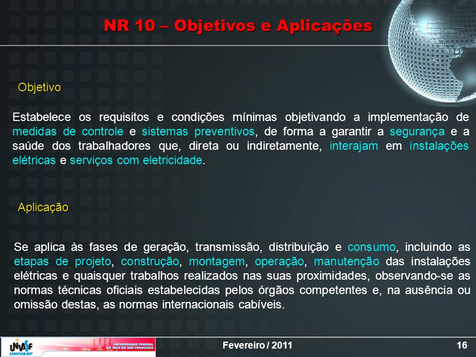 NR 10 – Objetivos e Aplicações