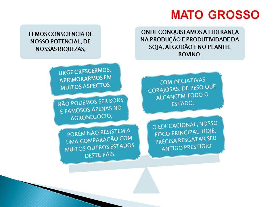 MATO GROSSO TEMOS CONSCIENCIA DE NOSSO POTENCIAL, DE NOSSAS RIQUEZAS,