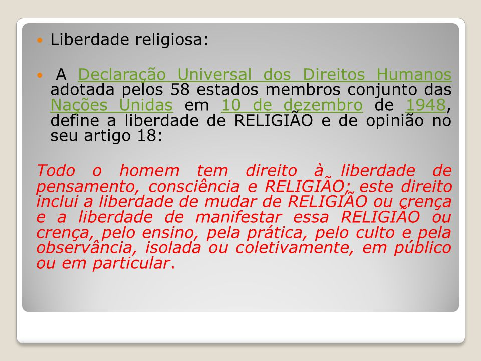 Liberdade religiosa: