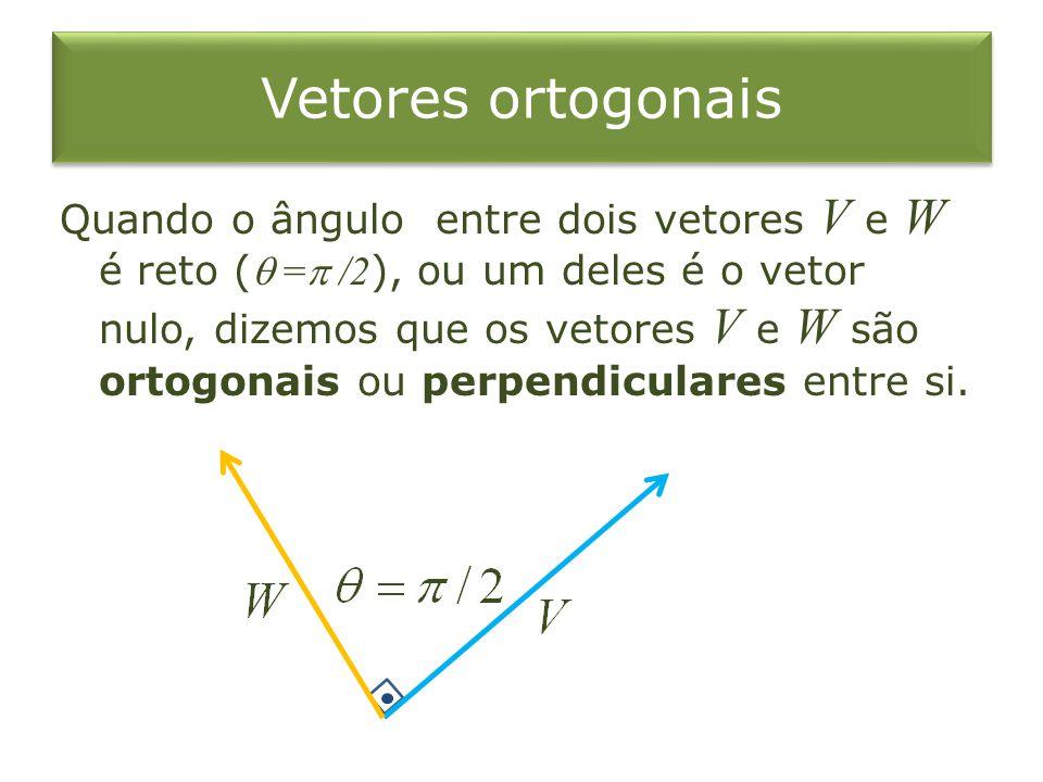 Vetores ortogonais