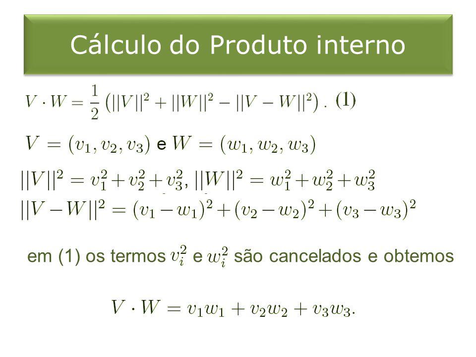 Cálculo do Produto interno