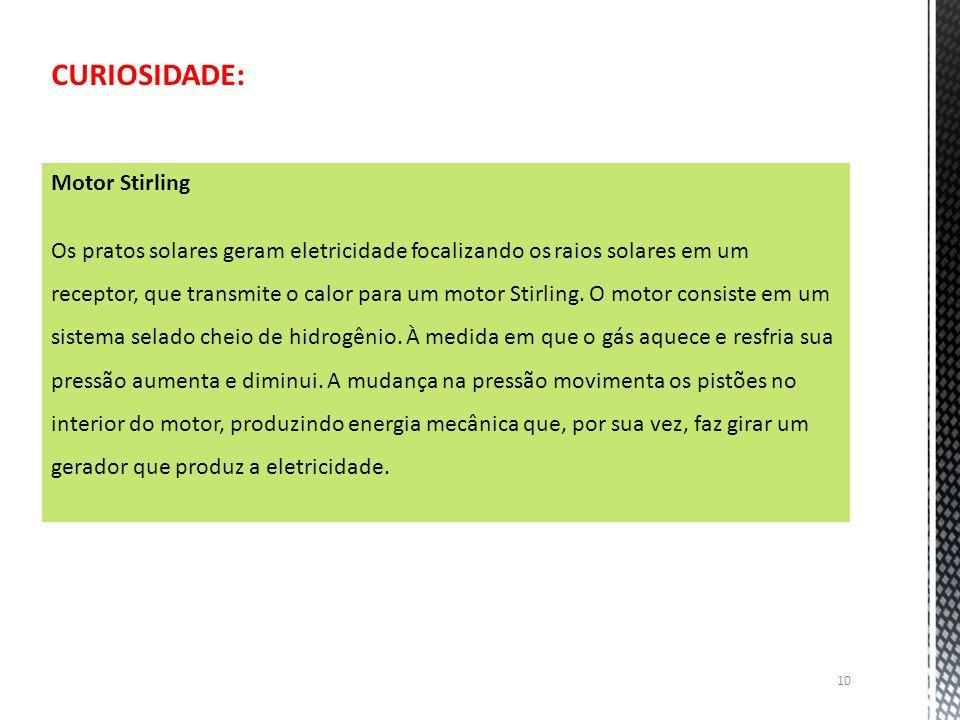 CURIOSIDADE: Motor Stirling