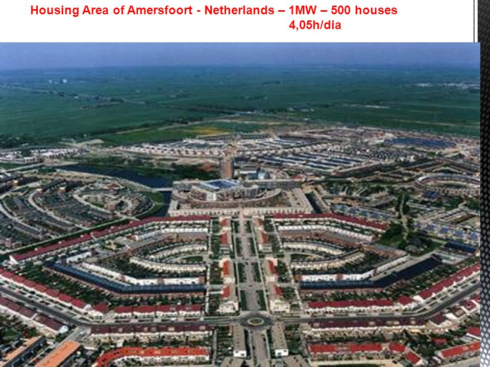 Housing Area of Amersfoort - Netherlands – 1MW – 500 houses 4,05h/dia