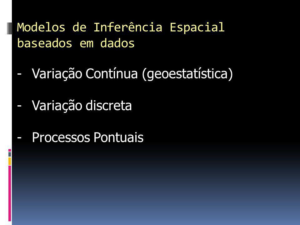 Modelos de Inferência Espacial baseados em dados