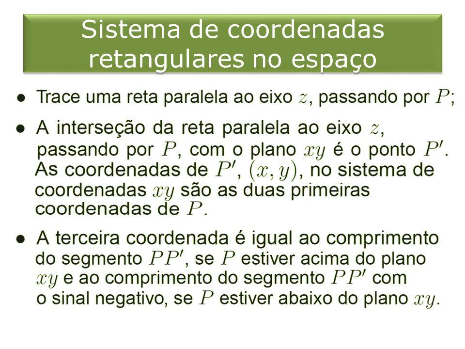 Sistema de coordenadas retangulares no espaço