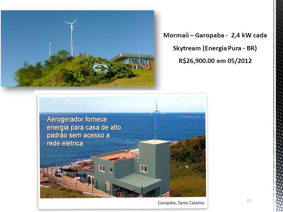 Mormaii – Garopaba - 2,4 kW cada Skytream (Energia Pura - BR)