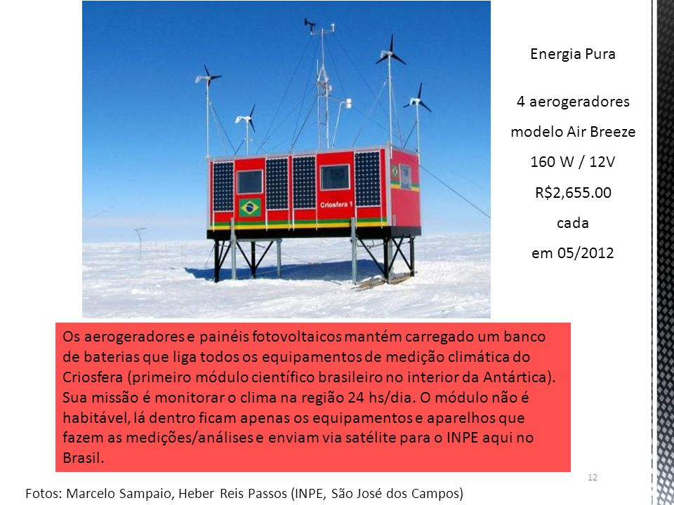 4 aerogeradores modelo Air Breeze