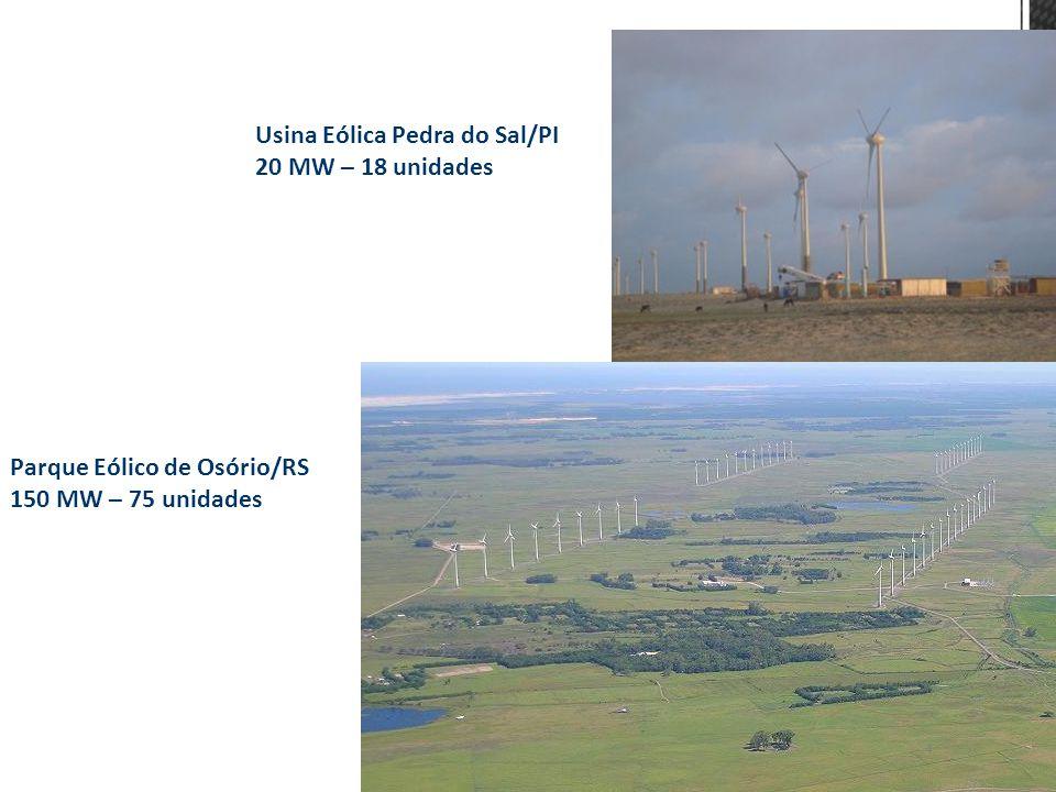 Usina Eólica Pedra do Sal/PI 20 MW – 18 unidades