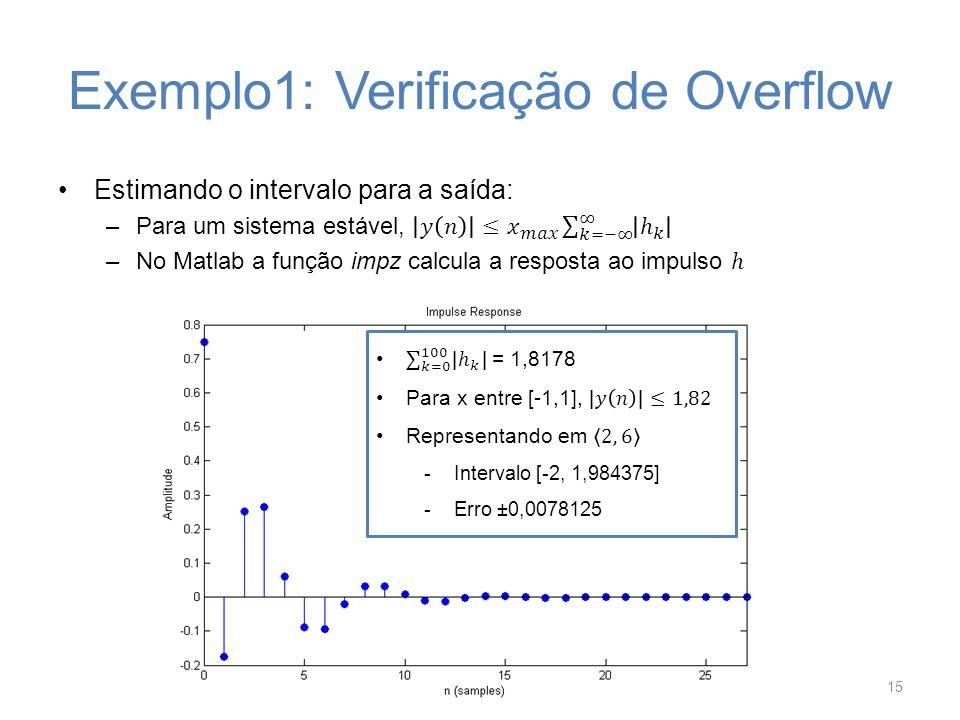 Exemplo1: Verificação de Overflow