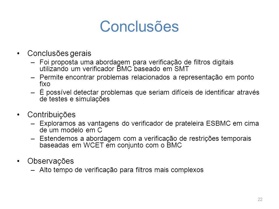 Conclusões Conclusões gerais Contribuições Observações