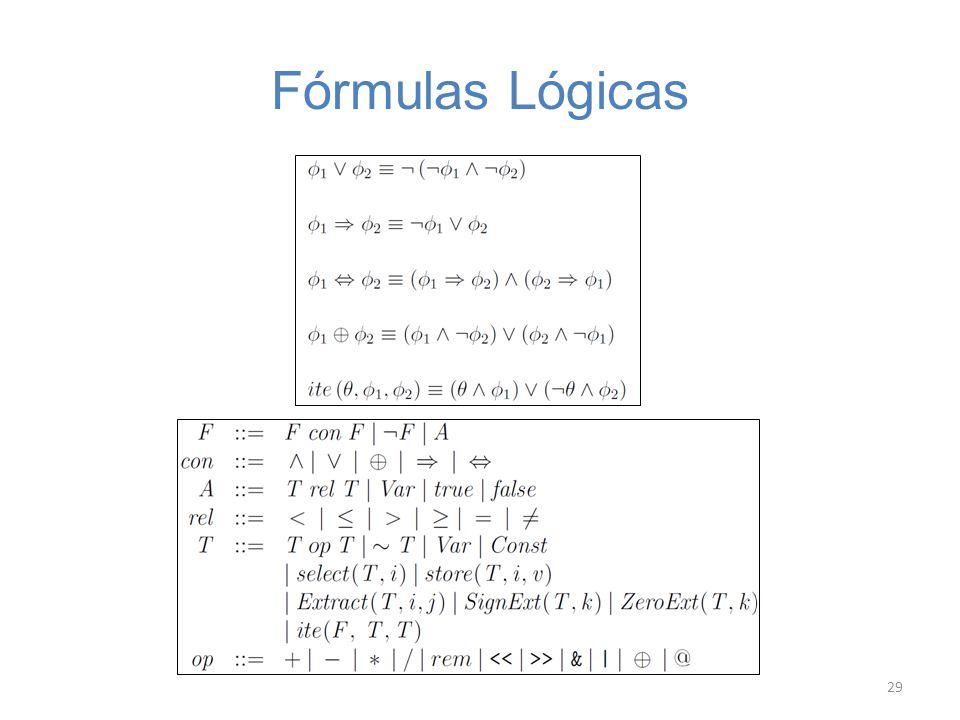 Fórmulas Lógicas