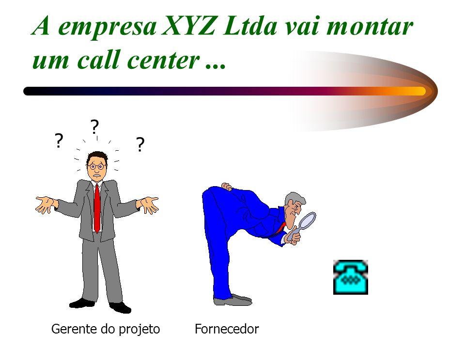A empresa XYZ Ltda vai montar um call center ...