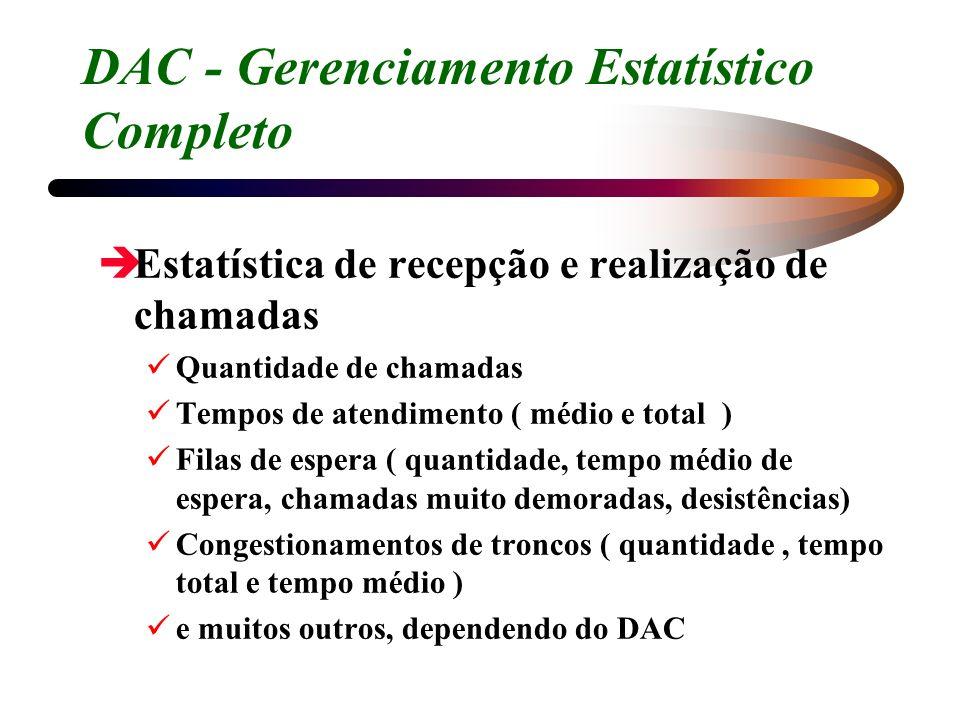 DAC - Gerenciamento Estatístico Completo