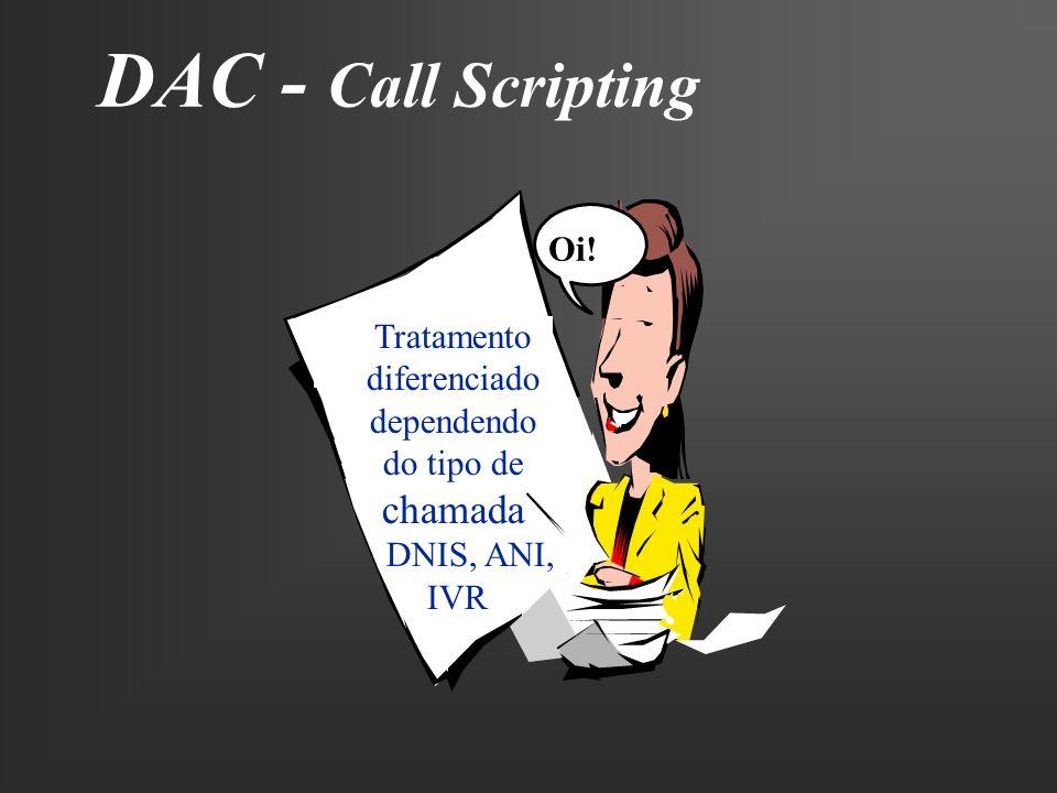 DAC - Call Scripting chamada Oi! Tratamento diferenciado dependendo