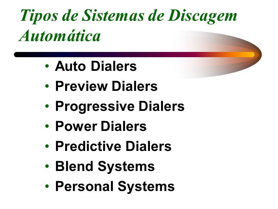 Tipos de Sistemas de Discagem Automática