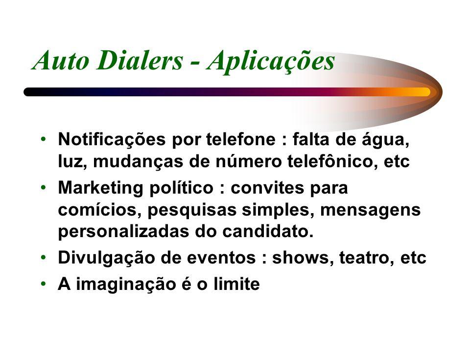 Auto Dialers - Aplicações