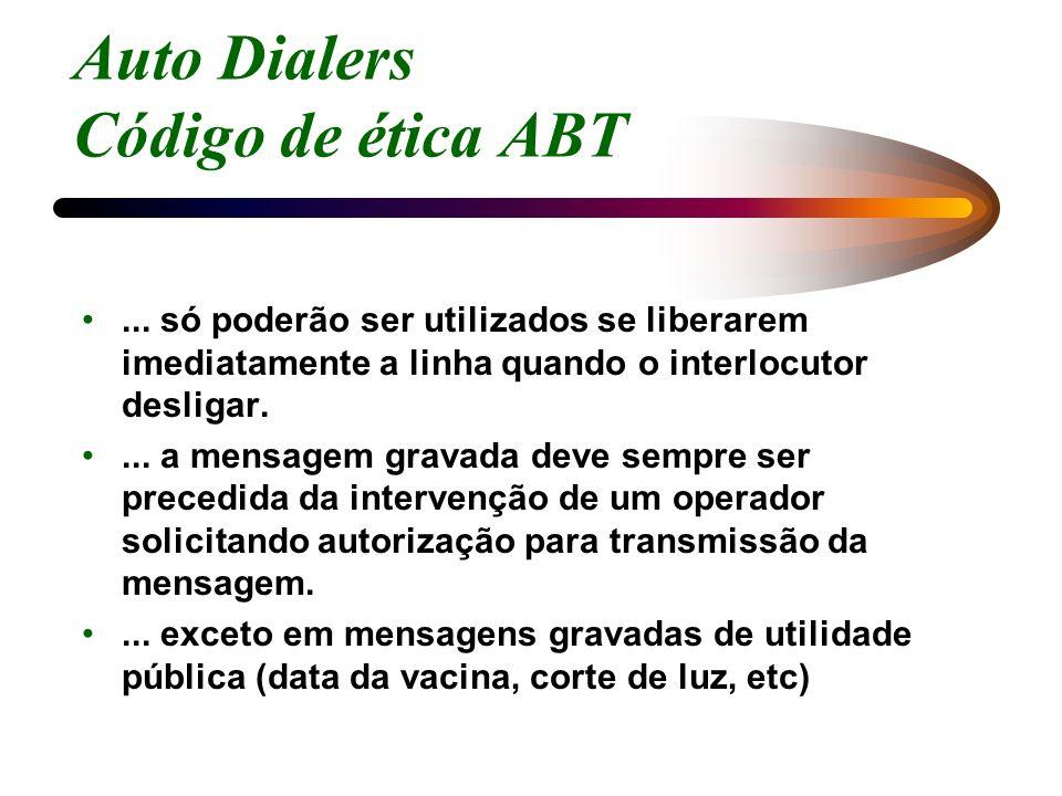 Auto Dialers Código de ética ABT