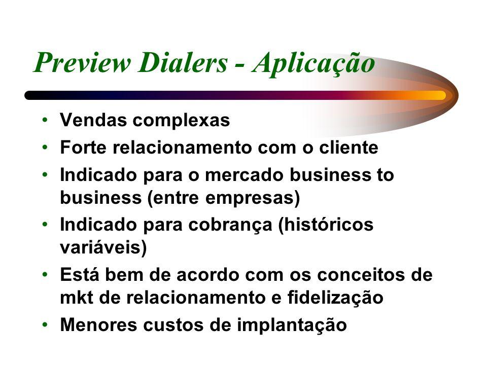 Preview Dialers - Aplicação
