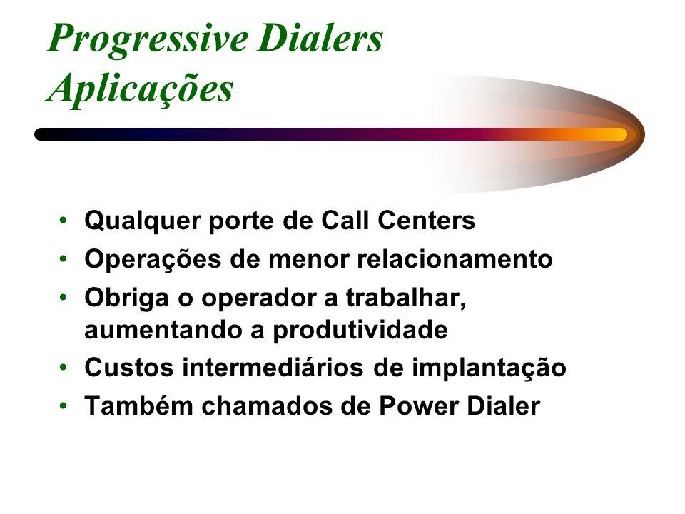 Progressive Dialers Aplicações