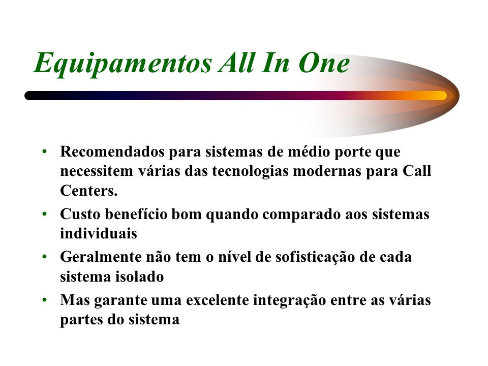Equipamentos All In One