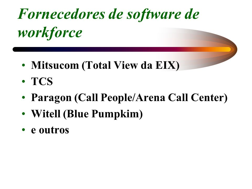 Fornecedores de software de workforce