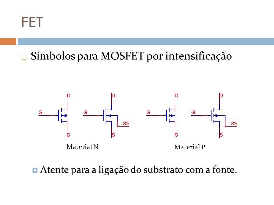 FET Símbolos para MOSFET por intensificação