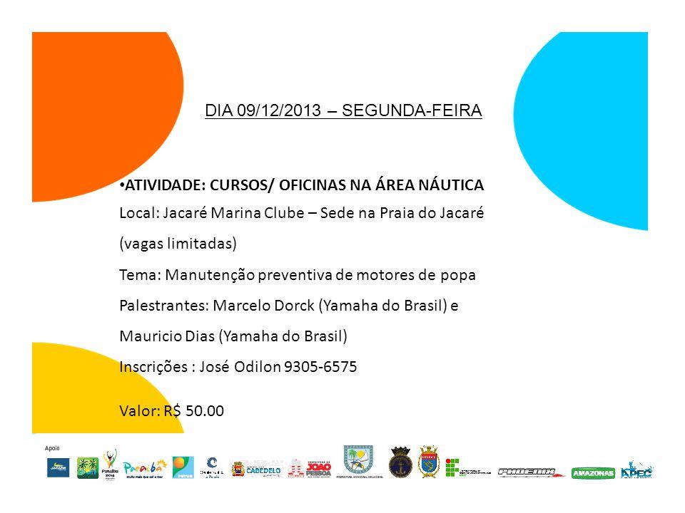ATIVIDADE: CURSOS/ OFICINAS NA ÁREA NÁUTICA