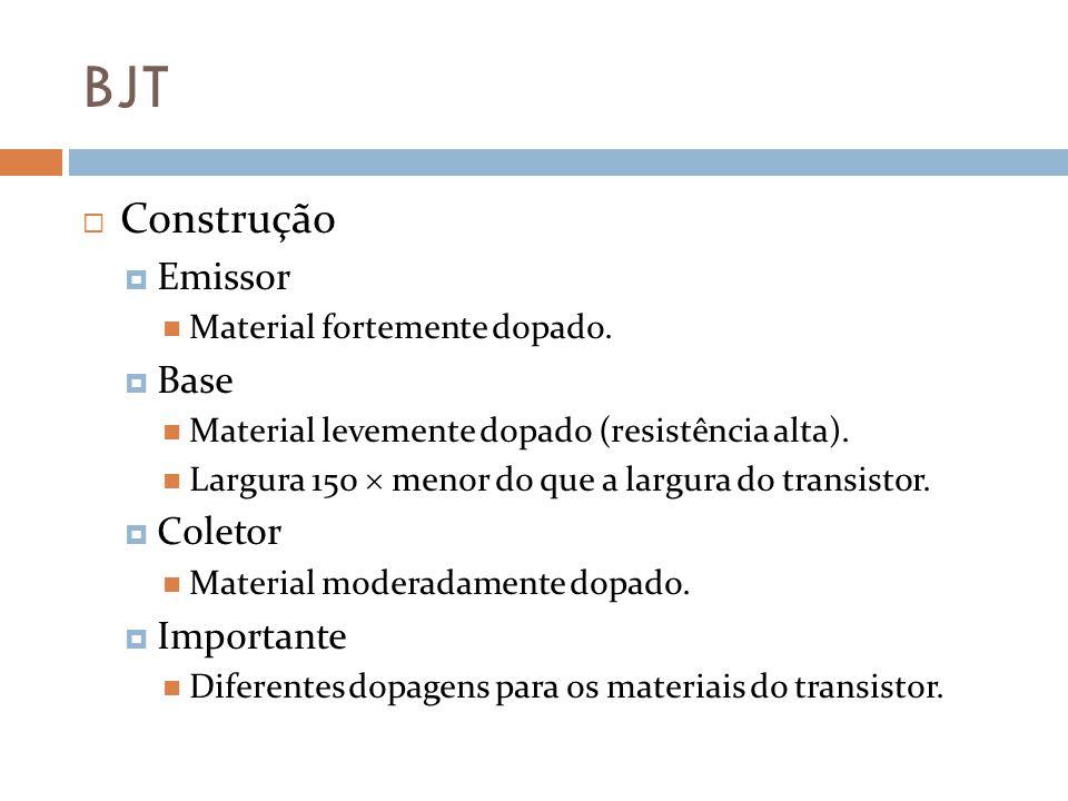 BJT Construção Emissor Base Coletor Importante