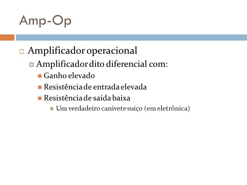 Amp-Op Amplificador operacional Amplificador dito diferencial com: