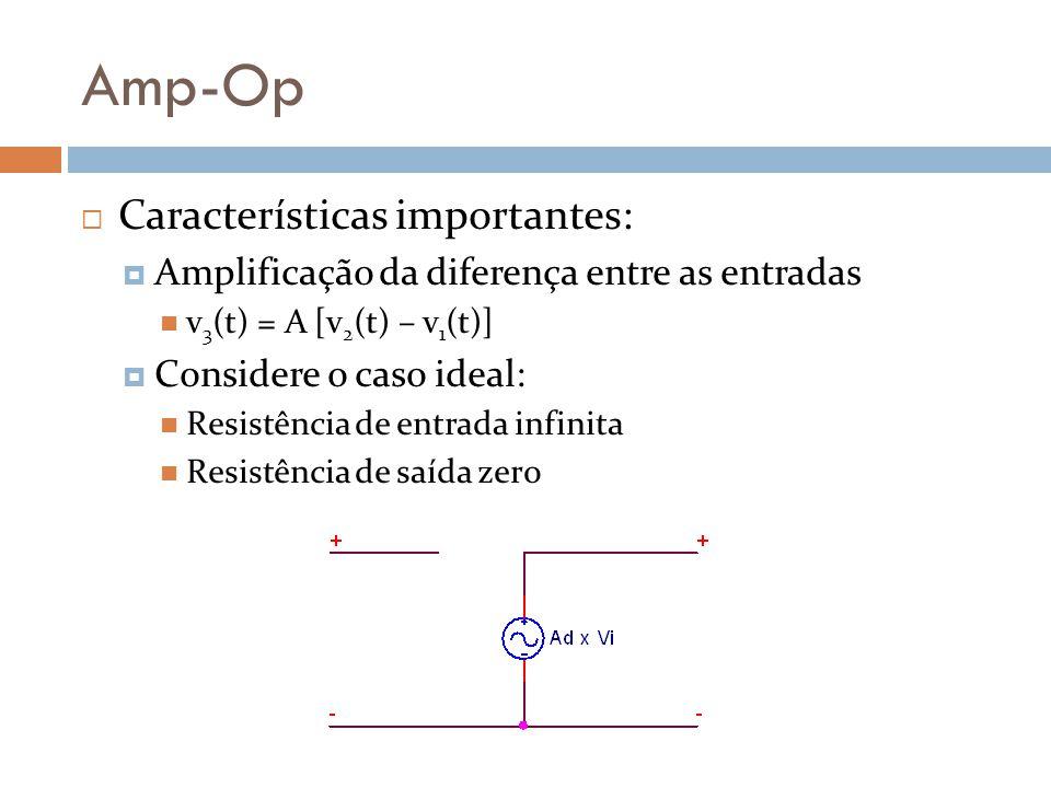 Amp-Op Características importantes: