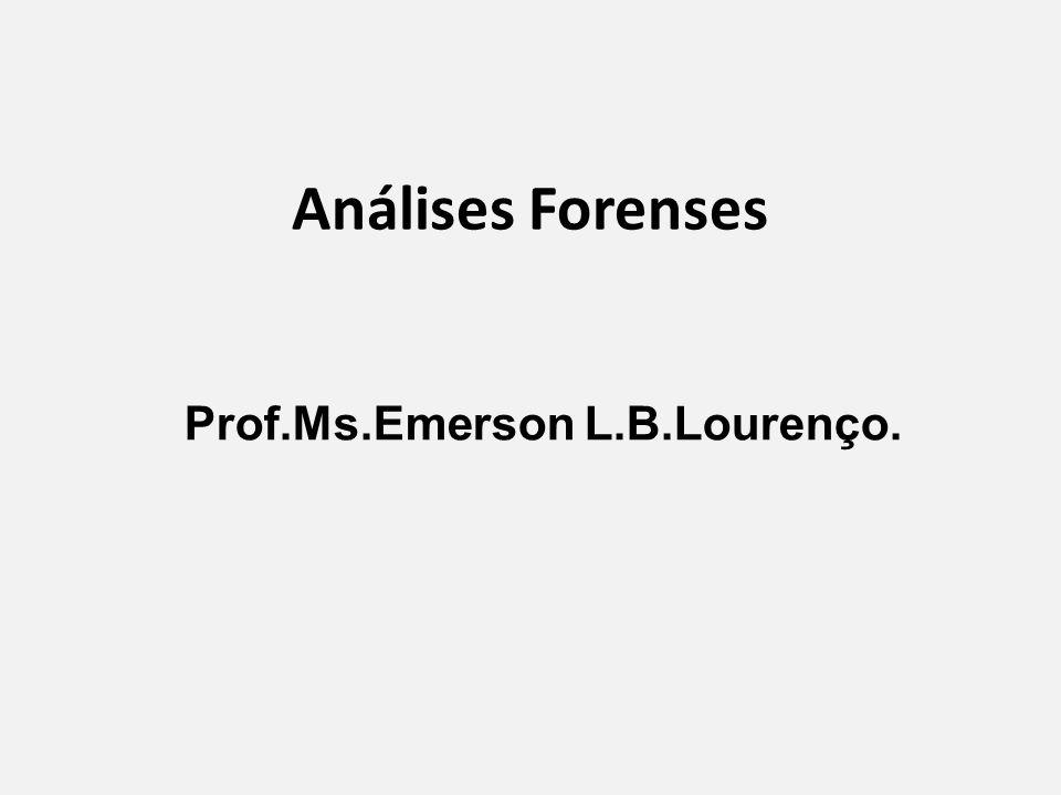 Prof.Ms.Emerson L.B.Lourenço.
