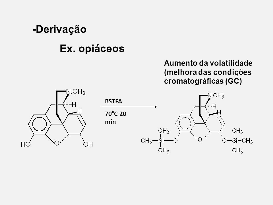 -Derivação Ex. opiáceos