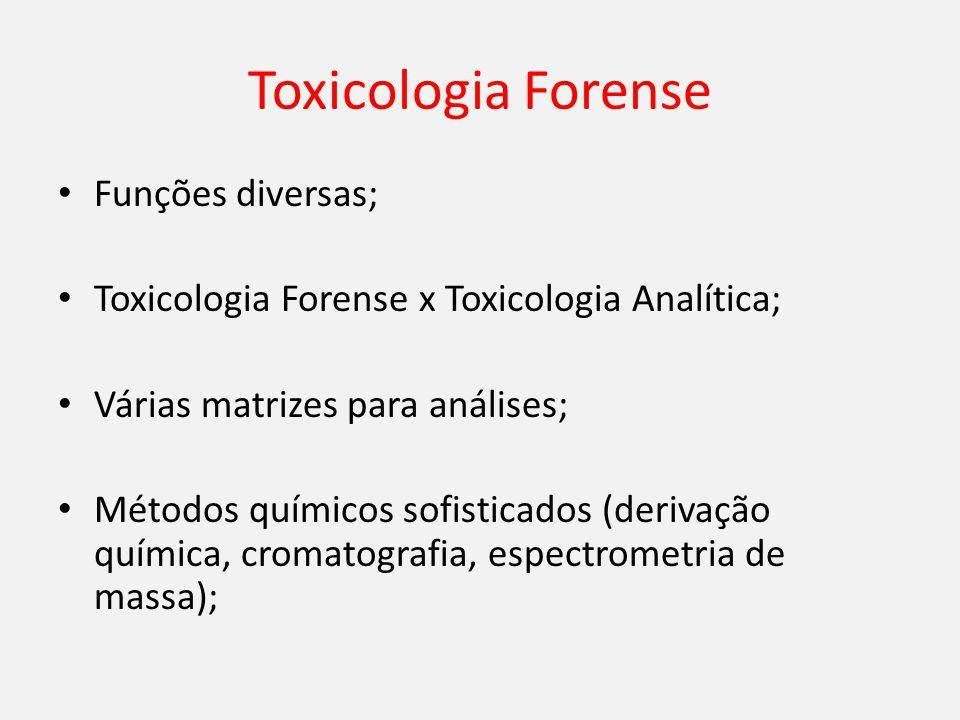 Toxicologia Forense Funções diversas;